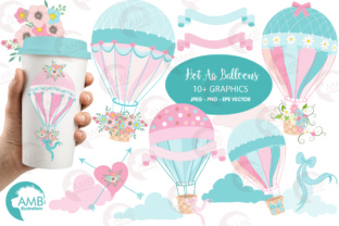 Hot Air Balloon Clipart Graphic Illustrations By AMBillustrations
