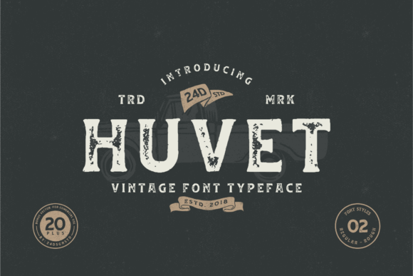 Print on Demand: Huvet Display Font By Nur Cholis