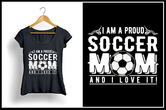 Download Free I Am A Proud Soccer Mom And I Love It Graphic By Zaibbb for Cricut Explore, Silhouette and other cutting machines.