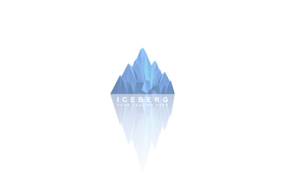Print on Demand: Iceberg Design Vector Gráfico Logos Por sabavector