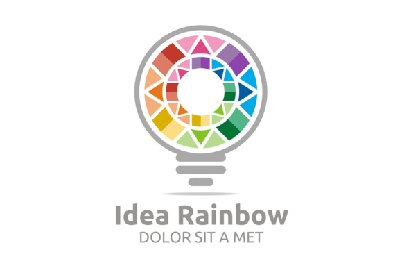 Idea Rainbow Graphic Logos By Acongraphic