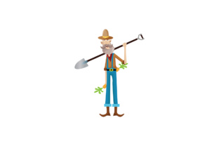 Illustration Character Farmer Graphic By Trulyartype Creative