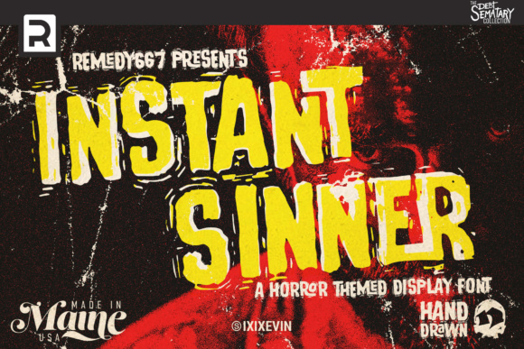 Print on Demand: Instant Sinner Display Font By remedy667