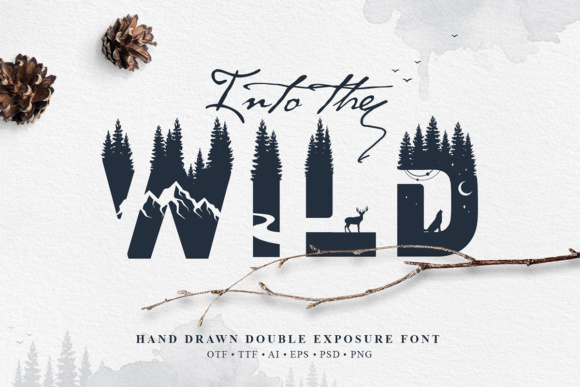 Print on Demand: Into the Wild Color Fonts Font By Cosmic Store