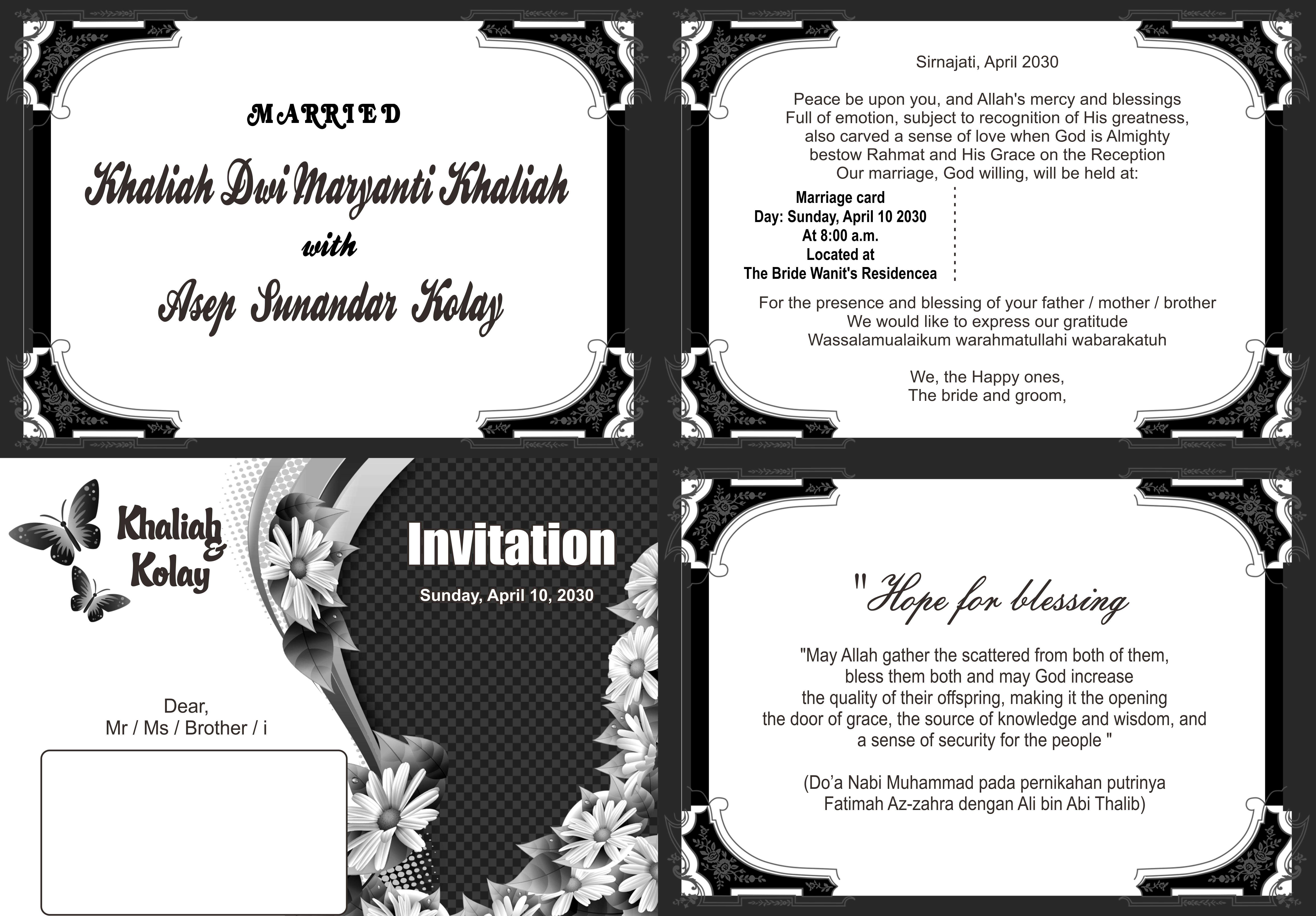 Download Free Invitation Graphic By Sagatiprinting18 Creative Fabrica for Cricut Explore, Silhouette and other cutting machines.