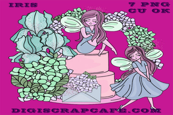 Iris Fairy Clip Art Graphic By Sojournstar