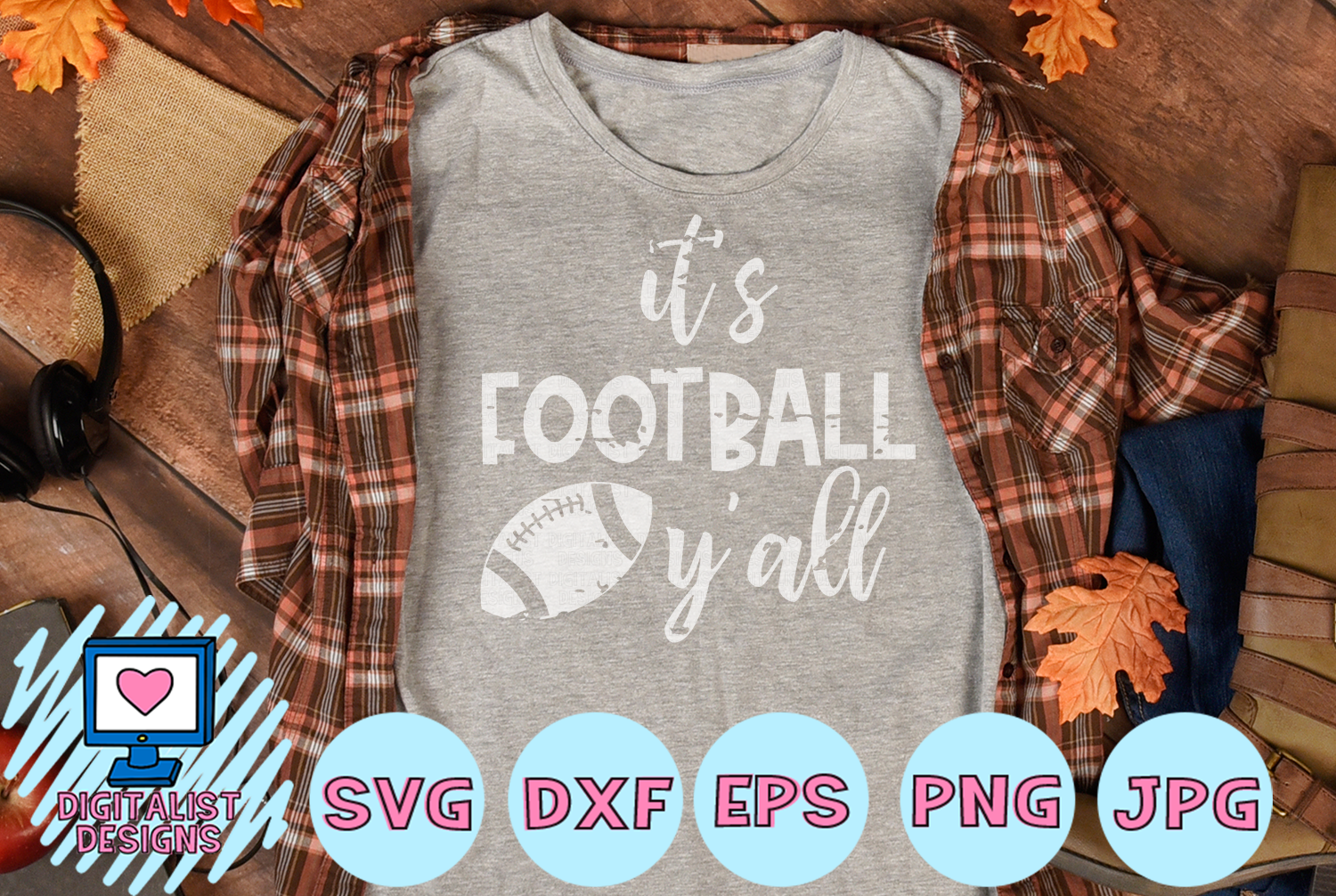 Download Free It S Football Y All Svg Graphic By Digitalistdesigns Creative for Cricut Explore, Silhouette and other cutting machines.