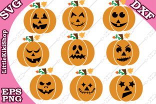 Download Free Jack O Lantern Svg Graphic By Littlekikishop Creative Fabrica for Cricut Explore, Silhouette and other cutting machines.