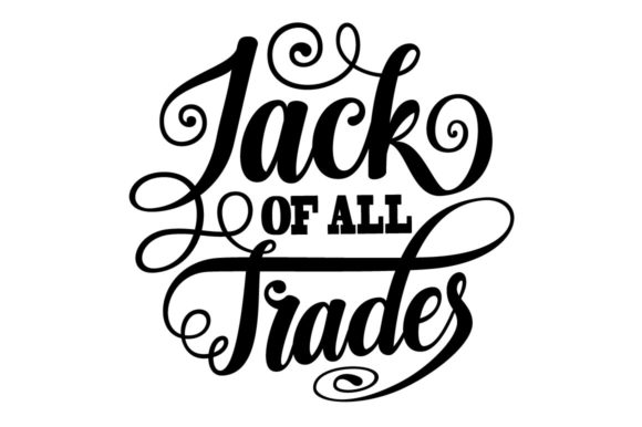 Print on Demand: Jack of All Trades Lettering SVG Graphic Crafts By Royaltype