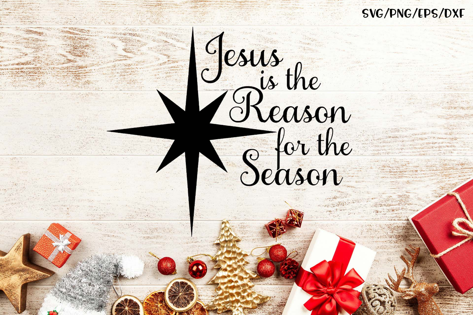 Download Free Jesus Is The Reason For The Season Grafik Von Sheryl Holst for Cricut Explore, Silhouette and other cutting machines.