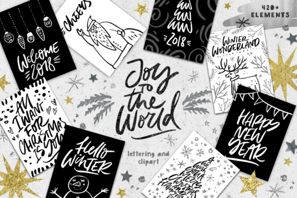 Joy to the World Illustrations Graphic Illustrations By Favete Art
