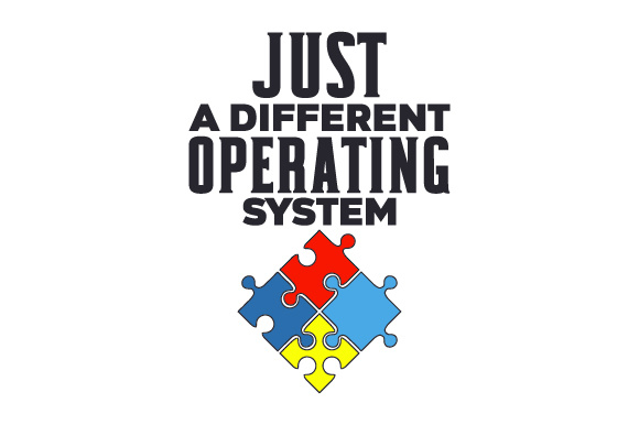 Just a Different Operating System Awareness Craft Cut File By Creative Fabrica Crafts