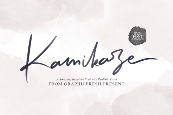 Print on Demand: Kamikaze Color Fonts Font By Graphicfresh