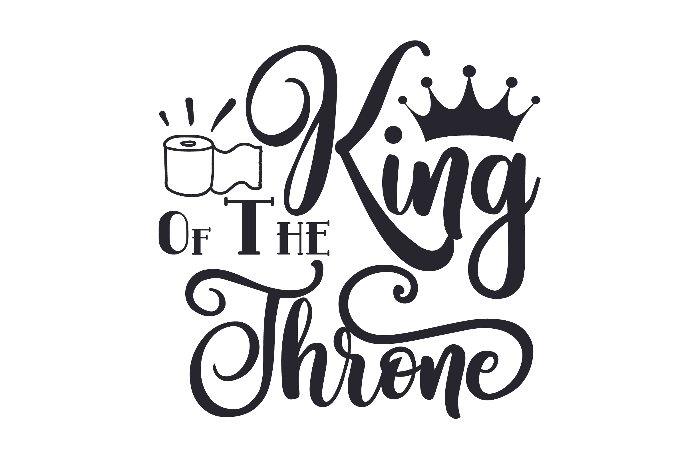 Download Free King Of The Throne Svg Cut File By Creative Fabrica Crafts for Cricut Explore, Silhouette and other cutting machines.