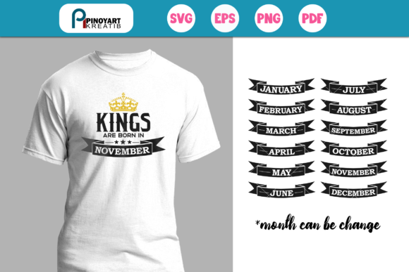 Kings Are Born in Svg Graphic Crafts By Pinoyartkreatib