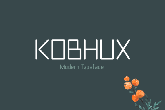 Print on Demand: Kobhux Display Font By Shattered Notion