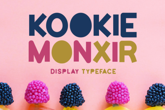 Print on Demand: Kookie Monxir Display Font By Shattered Notion