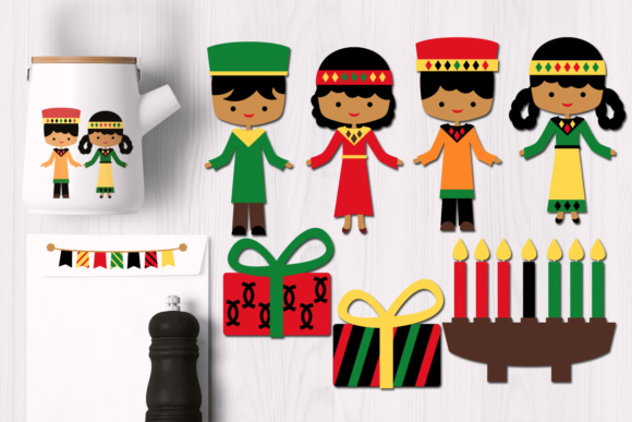 Print on Demand: Kwanzaa Kids Graphics Graphic Illustrations By Revidevi