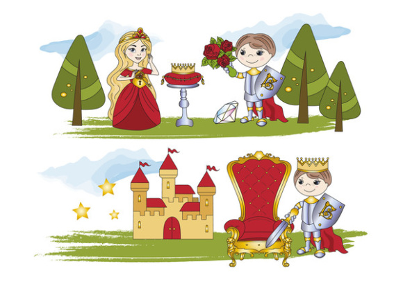 LITTLE KING Color Vector Illustration Set Graphic Illustrations By FARAWAYKINGDOM - Image 5