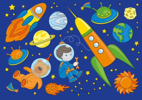 Print on Demand: LITTLE SPACEMAN Vector Illustration Seamless Pattern Set Graphic Illustrations By FARAWAYKINGDOM - Image 3