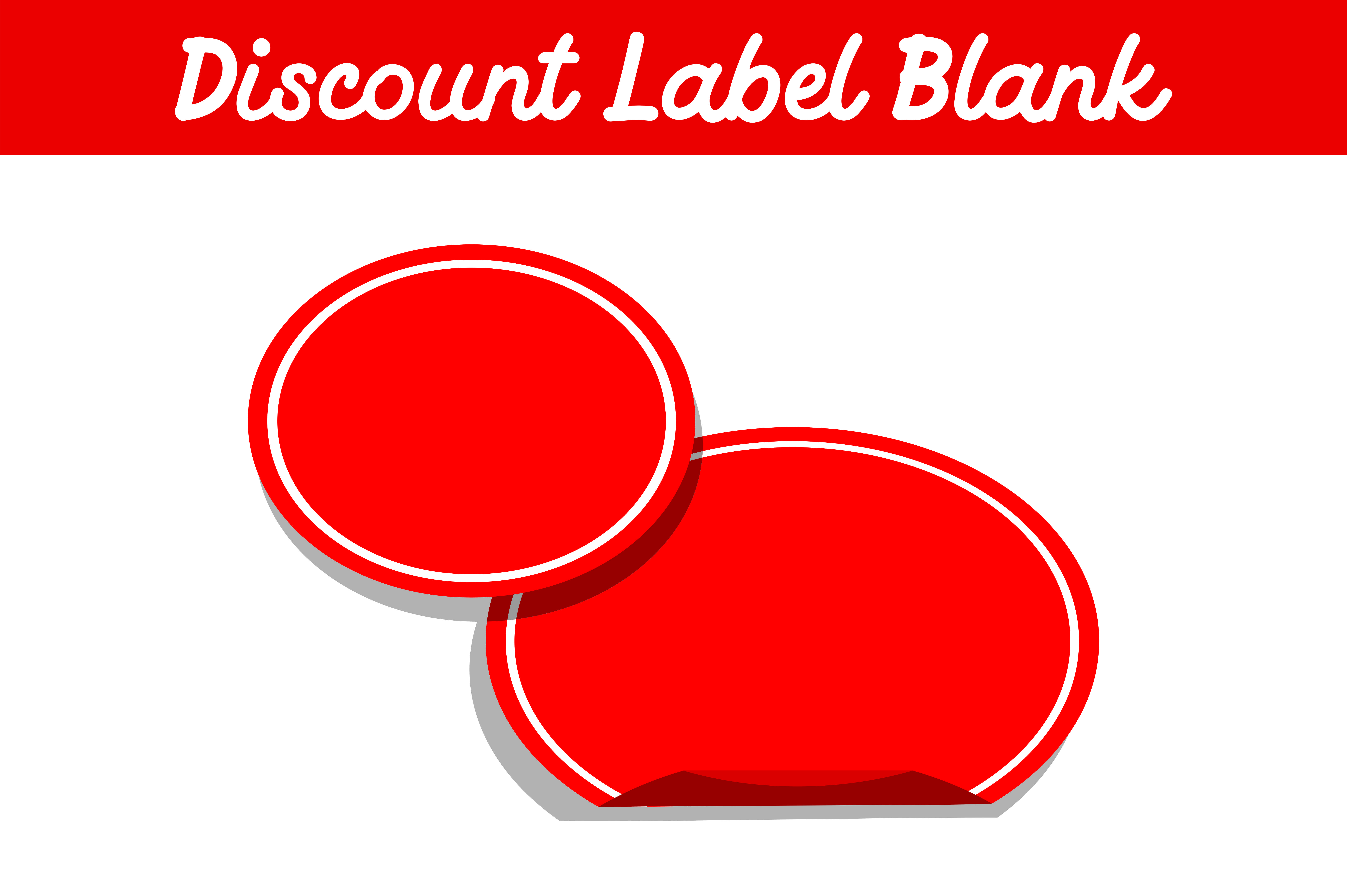 Download Free Label Discount Blank Graphic By Arief Sapta Adjie Creative Fabrica for Cricut Explore, Silhouette and other cutting machines.