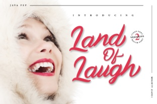 Land of Laugh Font By JavaPep
