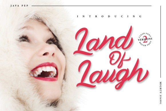 Print on Demand: Land of Laugh Script & Handwritten Font By JavaPep