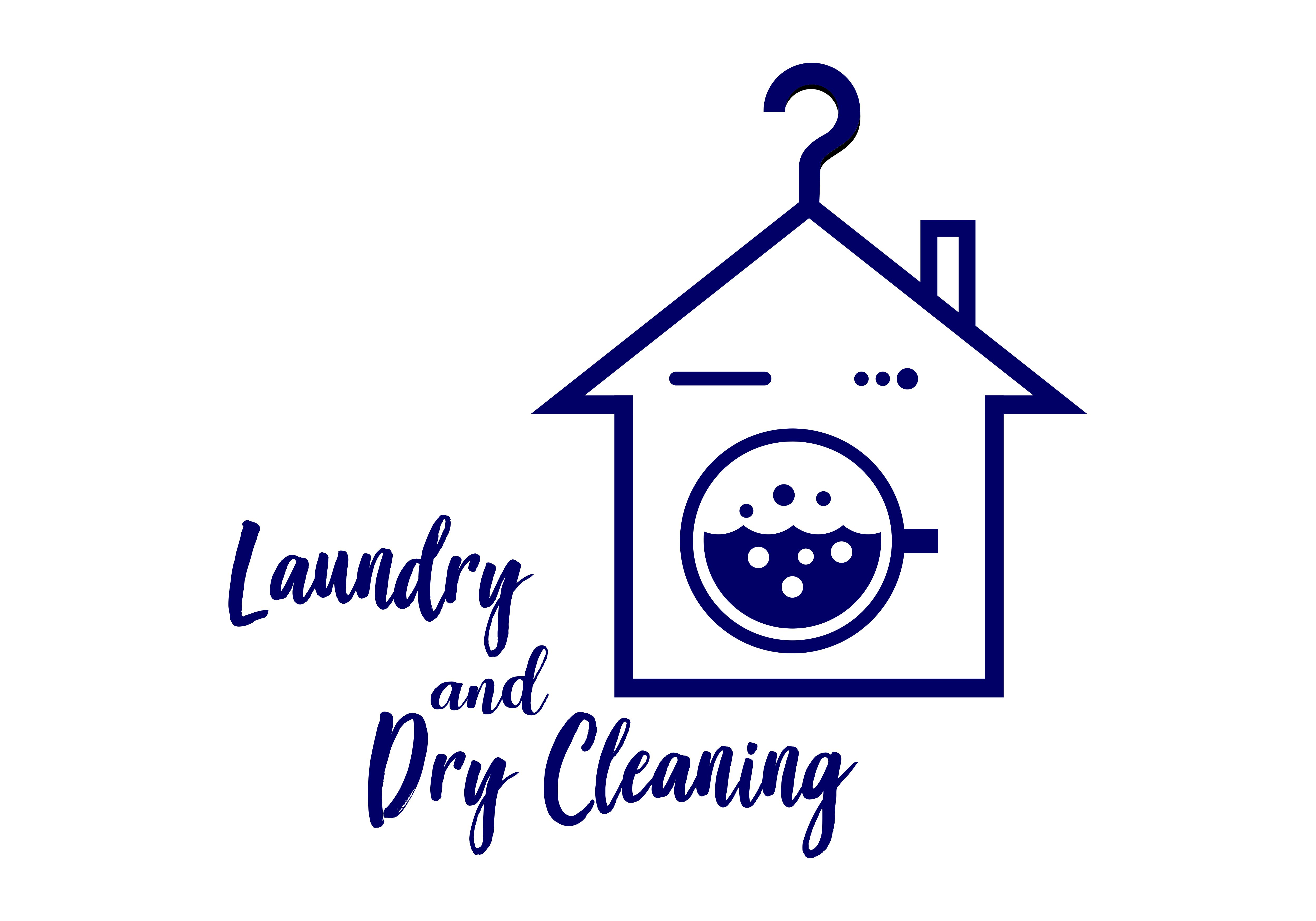 Laundry And Dry Cleaning Logo Graphic By Deemka Studio