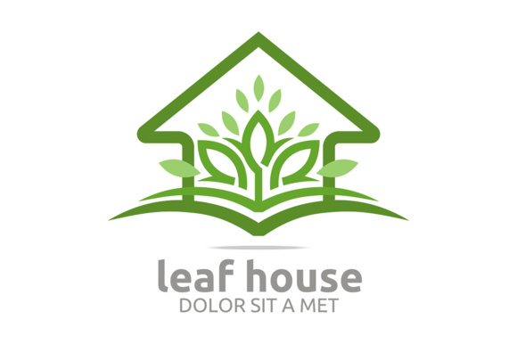 Download Free Leaf House Natural Logo Grafico Por Acongraphic Creative Fabrica for Cricut Explore, Silhouette and other cutting machines.
