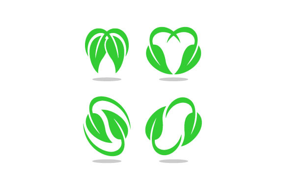 Leaf Vector Icon Set Graphic Logos By hartgraphic