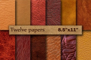 Leather Digital Paper 8.5 Graphic By twelvepapers