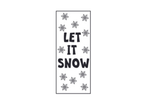 Let It Snow Porch Signs Craft Cut File By Creative Fabrica Crafts