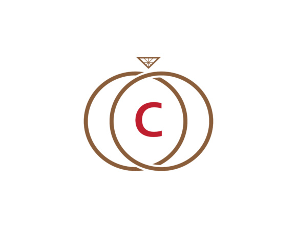 Download Free Letter C Logo Icon Design Template With Ring And Crystal Graphic for Cricut Explore, Silhouette and other cutting machines.