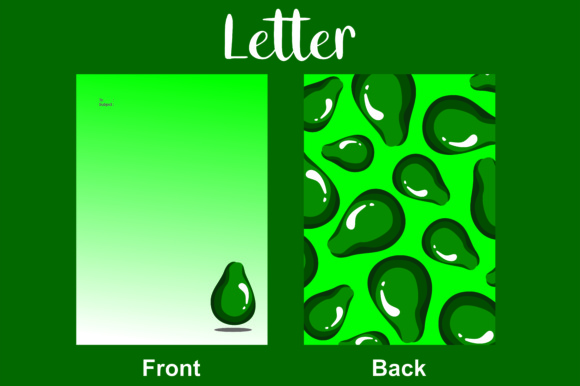 Letter Green Avocado Graphic By Arief Sapta Adjie