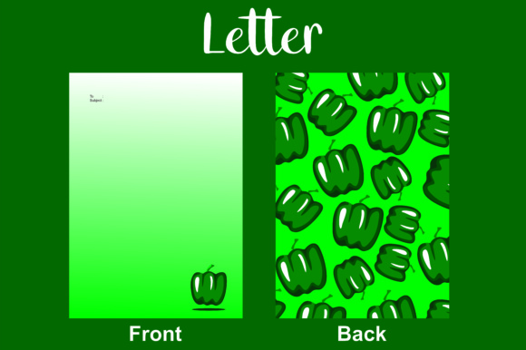 Letter Green Paprika Graphic By Arief Sapta Adjie