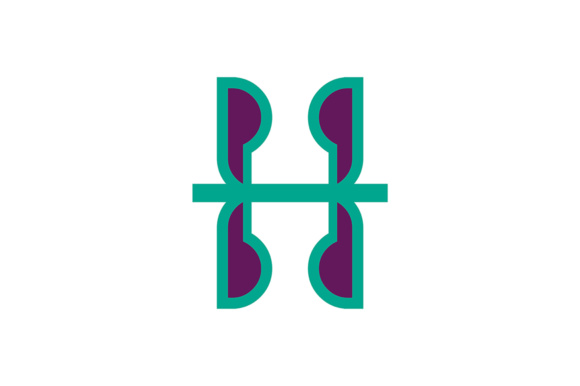 Letter H Logo Graphic Logos By Guardesign