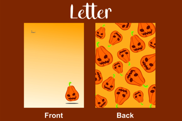Print on Demand: Letter Halloween Graphic Backgrounds By Arief Sapta Adjie