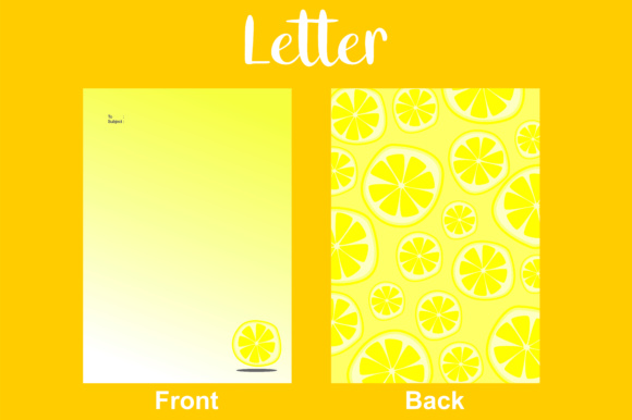 Letter Yellow Lemon Graphic By Arief Sapta Adjie