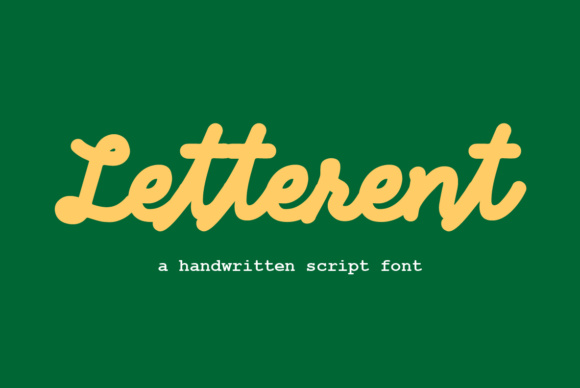 Print on Demand: Letterent Script Script & Handwritten Font By Prangtip.me