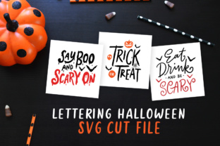 Download Free Lettering Halloween Grafico Por Weape Design Creative Fabrica for Cricut Explore, Silhouette and other cutting machines.
