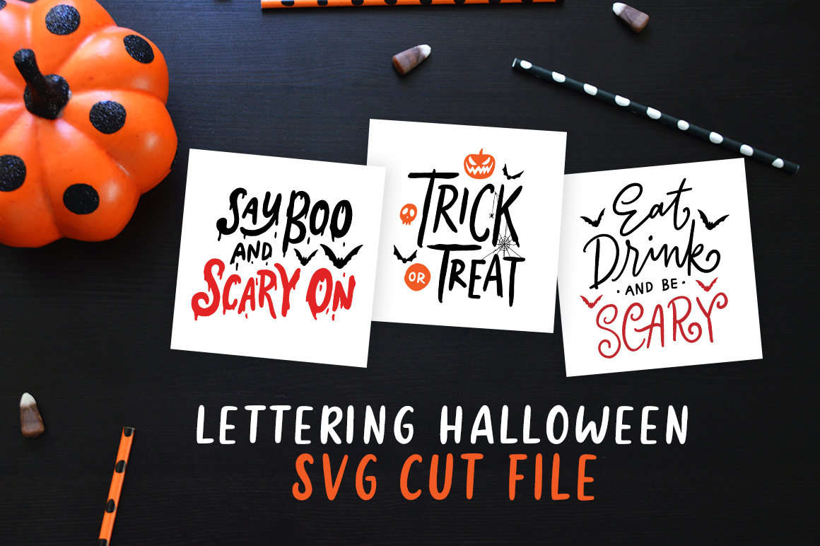 Download Free Lettering Halloween Graphic By Weape Design Creative Fabrica for Cricut Explore, Silhouette and other cutting machines.