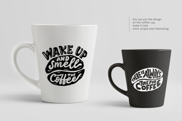 Download Free Lettering Quotes In The Coffee Beans Shape Graphic By Weape for Cricut Explore, Silhouette and other cutting machines.