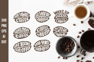 Print on Demand: Lettering Quotes in the Coffee Beans Shape Graphic Crafts By Weape Design