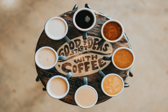 Download Free Lettering Quotes In The Coffee Beans Shape Grafik Von Weape for Cricut Explore, Silhouette and other cutting machines.
