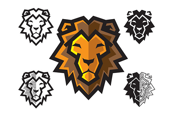 Download Free Lion Head Graphic By Djankrixz Studio Creative Fabrica for Cricut Explore, Silhouette and other cutting machines.