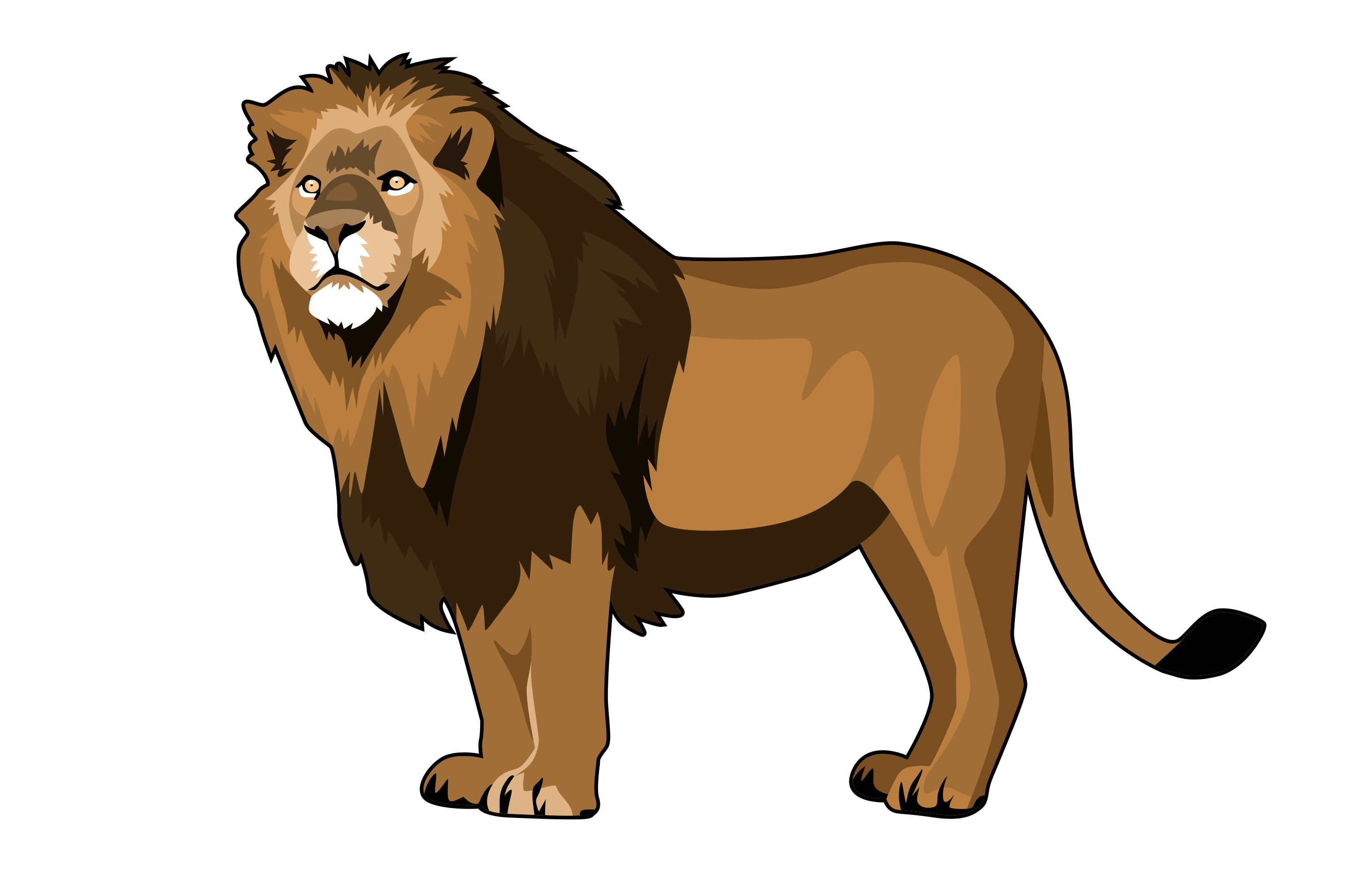 Download Free Lion Illustrations Graphic By Graphicrun123 Creative Fabrica for Cricut Explore, Silhouette and other cutting machines.