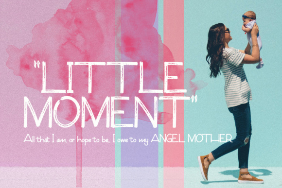 Print on Demand: Little Moment Display Schriftarten von Noyot246