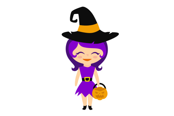 Download Free Little Trick Or Treat Girl Svg Cut File By Creative Fabrica for Cricut Explore, Silhouette and other cutting machines.