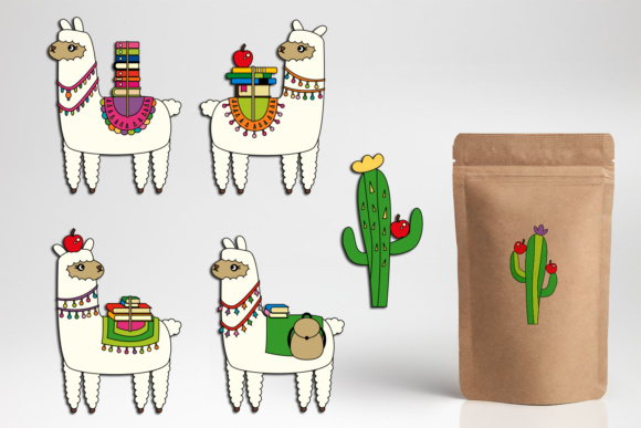 Download Free Llama Alpaca Books Graphic By Darrakadisha Creative Fabrica for Cricut Explore, Silhouette and other cutting machines.
