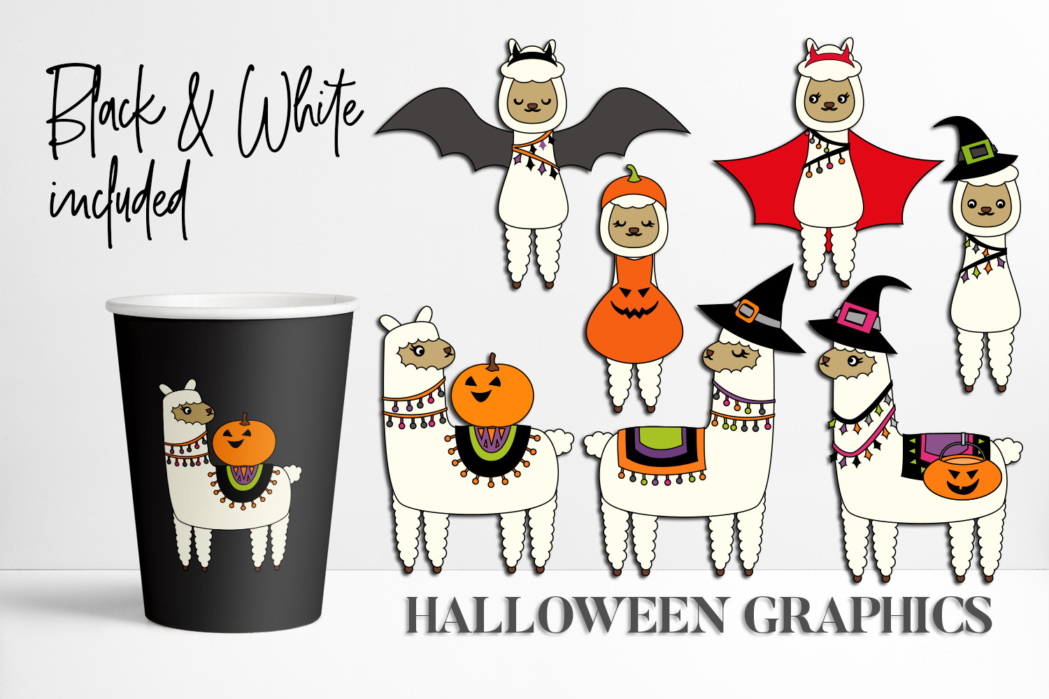 Download Free Llama Halloween Graphic By Darrakadisha Creative Fabrica SVG Cut Files